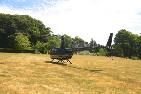 Robinson R44 Raven II lands at Coat Amour
